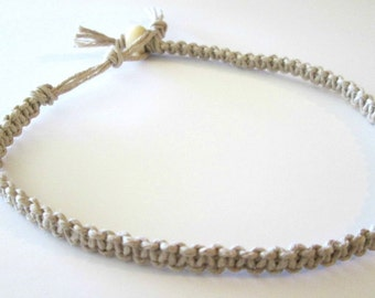 Natural Hemp Anklet