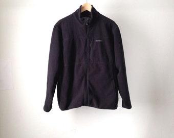 vintage BLACK TIMBERLAND 90s fleece size large normcore vintage black coat