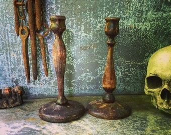 Wooden Candle Stick Holders / Wooden / Instant collection / Primitive