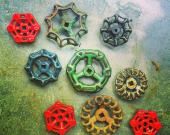 Drawer Pulls / Faucet Knobs / Handles / Drawer Pulls / Red / Rustic