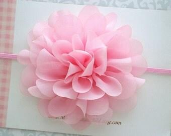 Pink Baby Headband, Baby Headband, Pink Headband, Baby Flower Headband, Pink Flower Headband, Newborn Headband, Toddler Headband