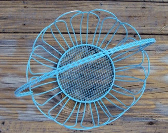 Blue Shabby Chic Wire Basket