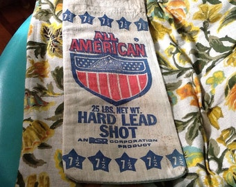 Vintage Lead Shot Sack Bag Ammunition Ammo Hunting All American Eagle