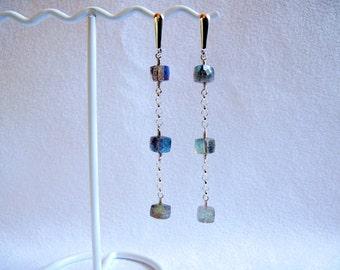Labradorite In-line Earrings