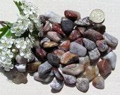10 Crazy Lace Agate Crystal Tumblestones, Crystal Collection, Chakra Crystals, Gemini, Meditation Stone, Aura, Agate Crystaks, Evil Eye