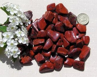 10 Brecciated (Mottled) Jasper Crystal Tumblestones Crystal Collection, Brown Orange Crystals, Chakra Crystals, Reiki, Meditation Stone