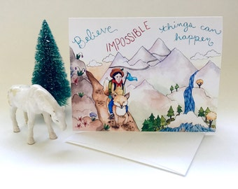 Believe Impossible Things Greeting Card