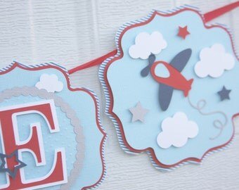 Airplane Banner, Birthday Banner, Airplane Baby Shower, Airplane Baby  Banner, Airplane Party