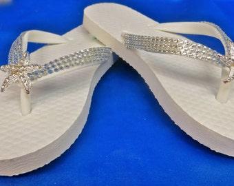 Beach Shoe Clips, Starfish Shoe Clips, Destination Wedding Shoes, Beach Wedding Shoes, Summer Wedding Shoes, Beach Theme Sandals