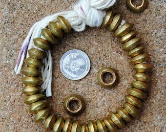 25 Ethiopian Brass Rings: 5x15mm