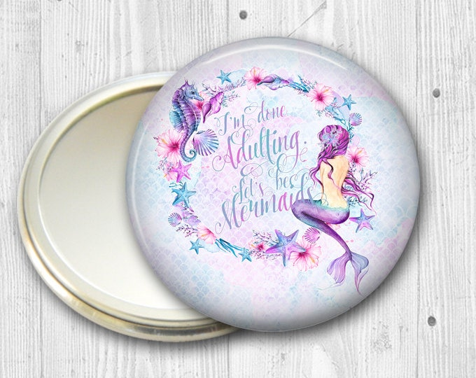 beach bridesmaid gift- maid of honor gift ideas- mermaid gift for bridesmaid- beach bridal party gifts- gifts for wedding party MIR-BCH-1