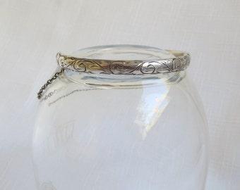 Beautiful Charles Horner art nouveau sterling children's bracelet