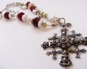 Mexican sterling cross necklace