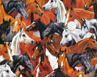 Fabric BTY Horse Herd