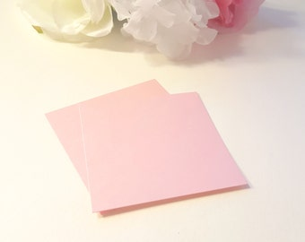 Rose Pink Shimmer Cardstock, Wedding Invites and Favor Tags, Party Tag, Wedding Supplies, Set of 25 Blank Pink Metallic Cardstock Squares