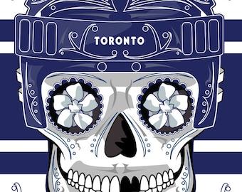Toronto Maple Leafs Sugar Skull Print 11x14 print