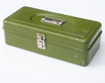 Union Metal Box Industrial Tool Storage Retro Decor Vintage Fishing Tackle