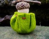 Tiny Baby Acorn Child Peg Doll