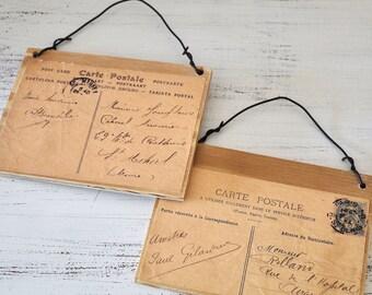 Postcard wood signs #1