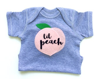 Lil Peach Baby Gift, Baby Clothes, Georgia Peach, Baby Girl Clothes, Fruit Bodysuit, The Wishing Elephant, Funny Baby Gift, Gifts under 25
