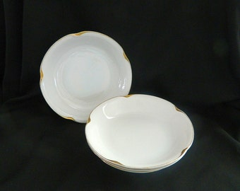 4 Antique J & C Bavaria Soup Bowls - Jaeger and Co - 1898 to 1923 - Louise Series