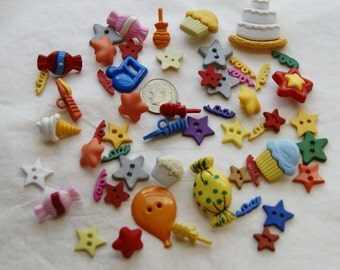 Buttons and Embellishments, Celebrate, Fun Scrapbooking  (AN 12)