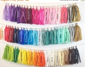 ON SALE NOW Tassel Garland Tissue Paper Tassels Garland Kit Set of 6 to 50 Choose your Colors and quantity