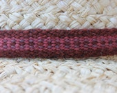 Hatband, Handwoven from Naturally Hand Dyed Wool, Wool Hatband, Woven Hatband