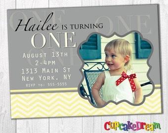 Printable Birthday Invitations, First Birthday Invitation
