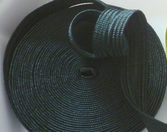 Moroccan art silk trim, dark green, medium,  5 metres