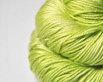 Splitted lime - Silk/Merino DK Yarn superwash