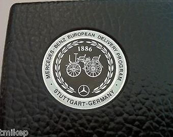 Badge Mercedes Benz European Delivery Program Hardside Samsonite slim Briefcase  Stuttgart Germany 1886