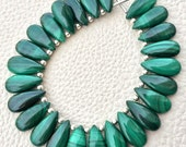 4 Matched Pair, NATURAL MALACHITE Smooth PEAR Shape Briolettes, 15x7mm size.Superb Item at Low Price