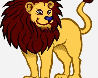 Lion digital embroidery design, Lion digitized embroidery design