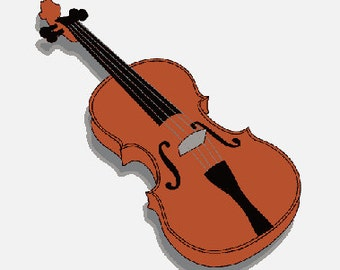 Violin digital embroidery design, Violin digitized embroidery design