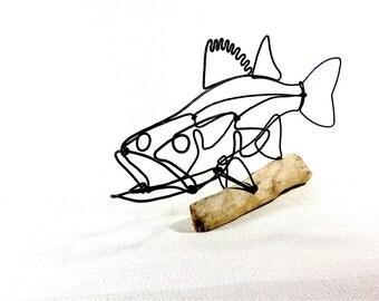 Walleye Fish Wire Sculpture. Fish Wire Art, Minimal Sculpture, 467091211