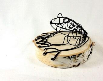 Frog Wire Sculpture, Frog Folk Art, Minimal Sculpture, Home Decor, 455410838