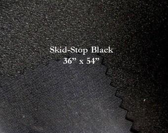 Skid Stop Non Slip Black Fabric