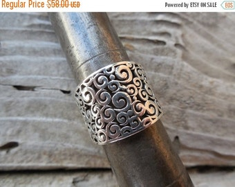 ON SALE Cigar band in sterling silver 925