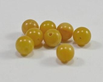 Yellow jade, 6mm - #1580