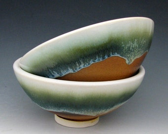 STONEWARE DESSERT BOWL - Ceramic Bowl - Cereal Bowl - Soup Bowl - Salad Bowl - Small Bowl - Ice Cream Bowl