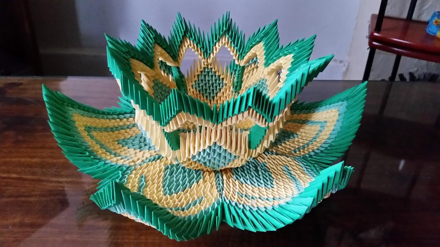 Present Origami Diagrams Electrical Wiring Diagram Advanced 3d Vase Lotus 2 Complex Star