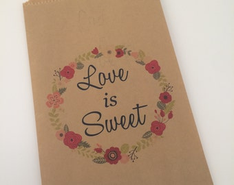 Love is Sweet Wedding Welcome Gift Candy Cookie bag Individual Bag