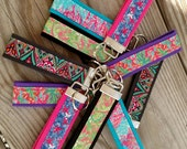 Floral pattern Key Chain Key Fobs Key Wristlet Perfect  Gift for Everyone!