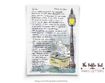The Public Poet: Paris Letters, November, A letter about Antoine the Public Poet who types out love poems for passers by