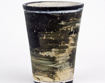 Tall Cup with Two White Bands