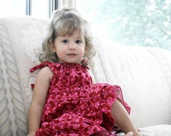 CLEARANCE Girls Dress, pillowcase dress, purple, pink, sundress - 2T