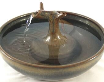 "Cat Drinking Fountain, Cat fountain, Pet Drinking Fountain  - 10.5 Inch Diameter - ""Bronze Zen"""