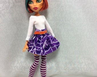 All The Webs skirt set for Your Monster High Doll