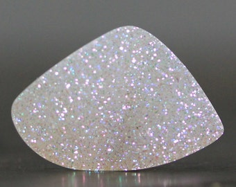 Dazzling, AB White Opalescent Druzy Cabochon Silversmith Jewelry Supply, Natural Gemstone for Weddings, Special Occasions (11942)